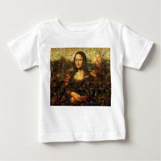 Camiseta Para Bebê colagem de Mona lisa - mosaico de Mona lisa - Mona