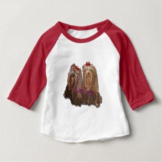 Camiseta Para Bebê Coleção do amor de Yorkie