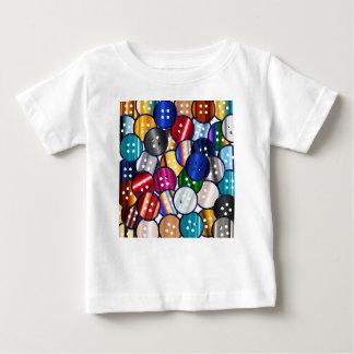 Camiseta Para Bebê Coleção do botão da cor