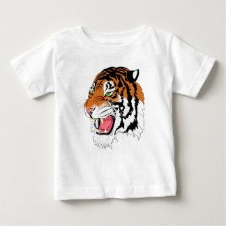 Camiseta Para Bebê Coleção fina do tigre da T-Camisa do jérsei do