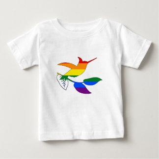 Camiseta Para Bebê Colibri do arco-íris