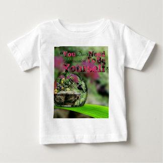 Camiseta Para Bebê Colibri em citações positivas da gota de orvalho