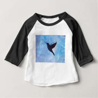 Camiseta Para Bebê Colibri na noite