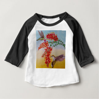Camiseta Para Bebê Colibris