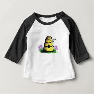 Camiseta Para Bebê colmeia
