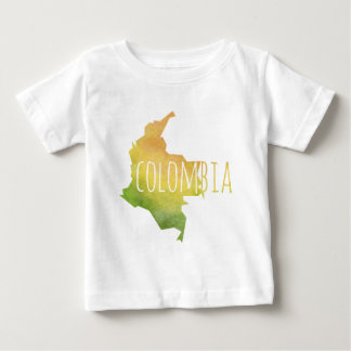 Camiseta Para Bebê Colômbia