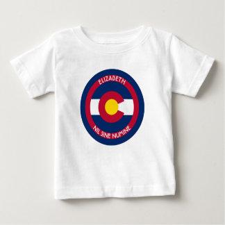 Camiseta Para Bebê Colorado estado centenário a bandeira