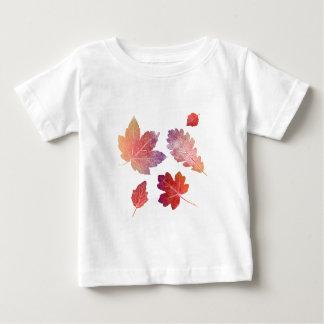 Camiseta Para Bebê colorfull skeleton Leafs conversas