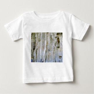 Camiseta Para Bebê Coluna branca estreita da rocha