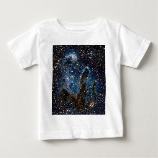 Camiseta Para Bebê Colunas infravermelhas da nebulosa de Eagle da