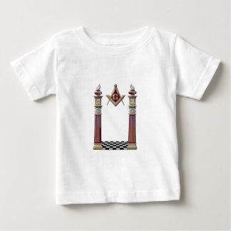 Camiseta Para Bebê Colunas maçónicas