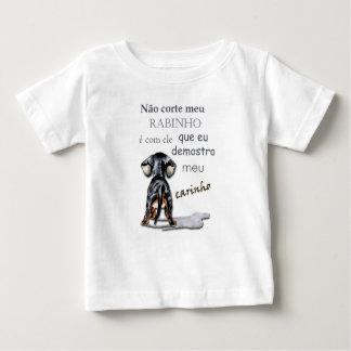 Camiseta para bêbe com estampa de cachorro e frase
