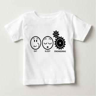 Camiseta Para Bebê Coma a engenharia do sono