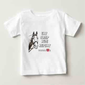 Camiseta Para Bebê Coma a repetição do passeio do sono