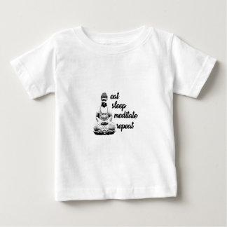 Camiseta Para Bebê Coma, durma, meditate, repita