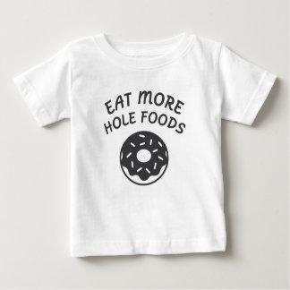 Camiseta Para Bebê Coma mais alimentos do furo