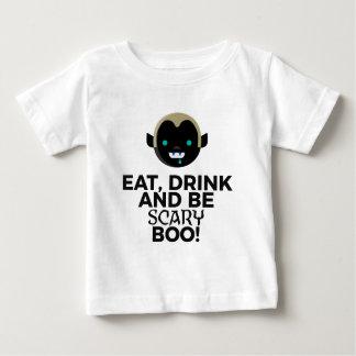 Camiseta Para Bebê Coma o design assustador do Dia das Bruxas da vaia