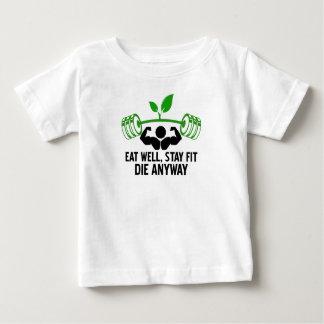 Camiseta Para Bebê coma o design gráfico bom