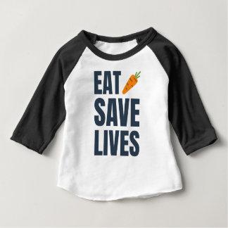 Camiseta Para Bebê Coma o Vegan - vidas das economias