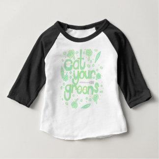 Camiseta Para Bebê coma seus verdes