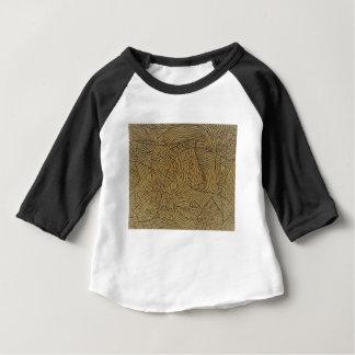 Camiseta Para Bebê Começo áspero queimado do ouro