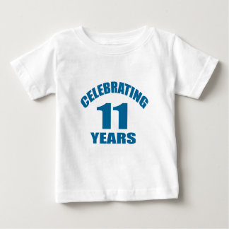 Camiseta Para Bebê Comemorando 11 anos de design do aniversário