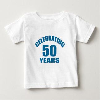 Camiseta Para Bebê Comemorando 50 anos de design do aniversário