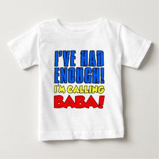 Camiseta Para Bebê Comeu bastante babá de chamada