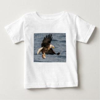 Camiseta Para Bebê Comida de travamento da águia americana