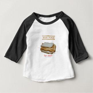 Camiseta Para Bebê Comida do homem de Tony Fernandes - sanduíche do