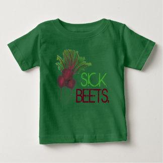Camiseta Para Bebê Comida engraçada do vegetariano doente da