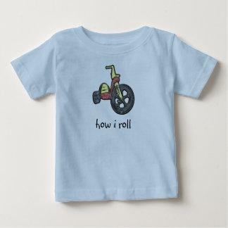 Camiseta Para Bebê como eu rolo