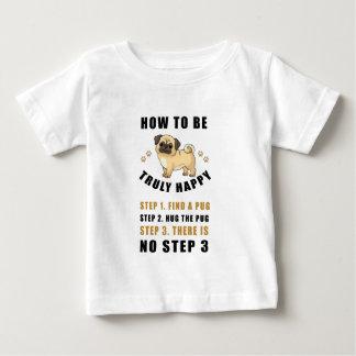 Camiseta Para Bebê como ser achado verdadeiramente feliz da etapa