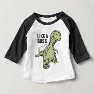 Camiseta Para Bebê Como um dinossauro do chefe
