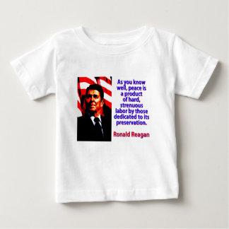 Camiseta Para Bebê Como você sabe bem - Ronald Reagan