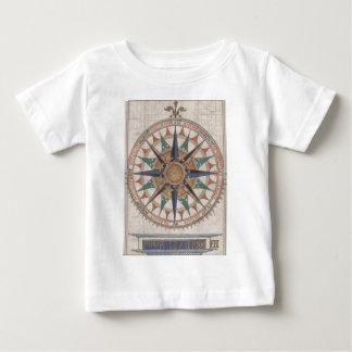 Camiseta Para Bebê Compasso náutico histórico (1543)