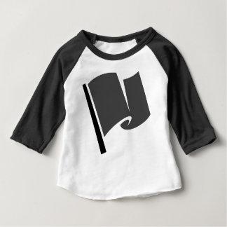 Camiseta Para Bebê Competindo a bandeira