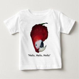 Camiseta Para Bebê Comportamento disparatado do Macaw
