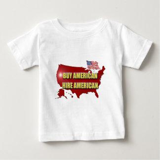Camiseta Para Bebê Compre América!  Contrate América!