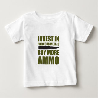 Camiseta Para Bebê Compre mais munição, invista-a no metal