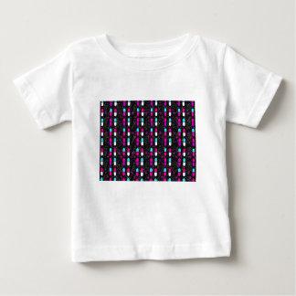 Camiseta Para Bebê comprimidos cor-de-rosa do brilho