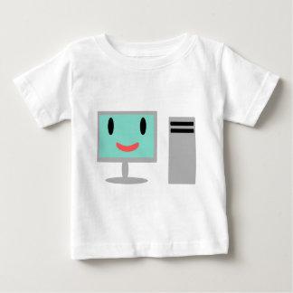 Camiseta Para Bebê computador dos desenhos animados