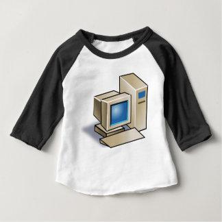 Camiseta Para Bebê Computador retro