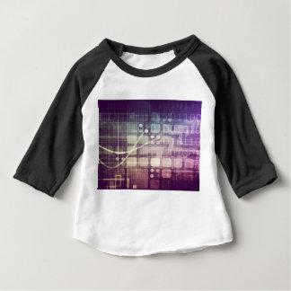 Camiseta Para Bebê Conceito abstrato futurista na tecnologia