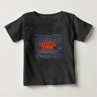 Camiseta Para Bebê Conceito do erro crítico
