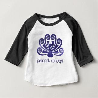 Camiseta Para Bebê Conceito do ícone do Peafowl do pássaro do pavão