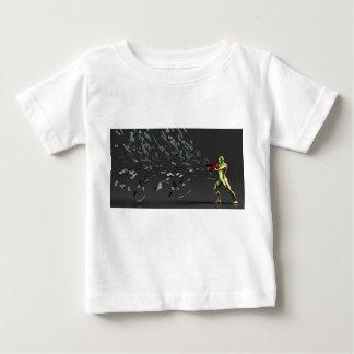 Camiseta Para Bebê Conceito do marketing com homem de negócios