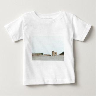 Camiseta Para Bebê Concreto e areia