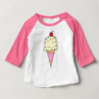 Camiseta Para Bebê Cone de creme de Vanilla Ice