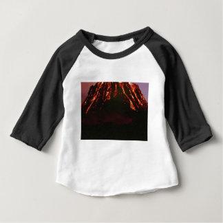 Camiseta Para Bebê cone vulcânico nivelado